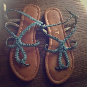 Report Blue Braided Sandals 🌊